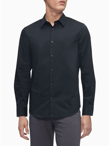 Camisa-L-S-French-Plkt-P-D-Stretch-S