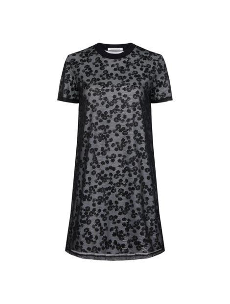 Vestido-camisero-con-doble-capa-de-malla-floral